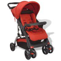 vidaXL Otroški voziček rdeč 102x52x100 cm