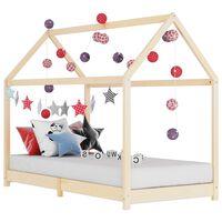 vidaXL Otroški posteljni okvir iz trdne borovine 90x200 cm