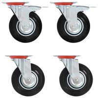 vidaXL Gibljiva kolesa 16 kosov 125 mm