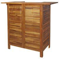 vidaXL Barska miza 110x50x105 cm trden akacijev les