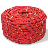 vidaXL Mornarska vrv polipropilen 12 mm 50 m rdeča