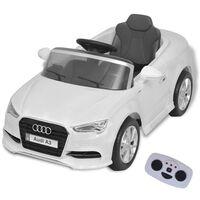 vidaXL Električni Otroški Avto z Daljincem Audi A3 Bele Barve