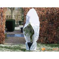 Nature Zimska koprena z zadrgo 70 g/m² bela 1,5x1,5x2 m