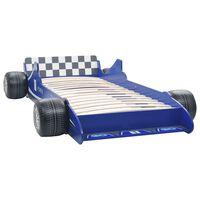 vidaXL Otroška postelja dirkalni avtomobil 90x200 cm modra
