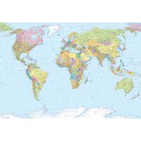 Komar Stenska slika World Map XXL 368x248 cm