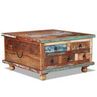 vidaXL Klubska mizica iz predelanega lesa 70x70x38 cm
