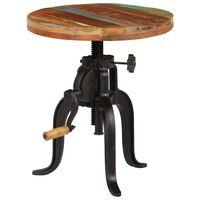 vidaXL Stranska mizica 45 x (45-62) cm trden predelan les in železo