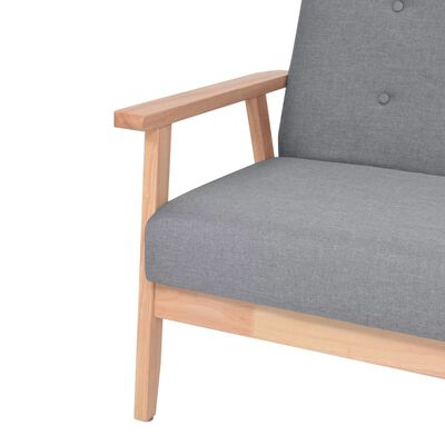 vidaXL Komplet kavčev 2 kosa blago svetlo sive barve