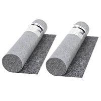 vidaXL Nedrseča zaščitna podloga 2 kosa 50 m 280 g/m² siva