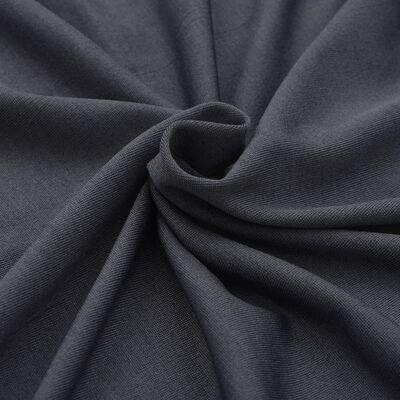 vidaXL Raztegljiva Prevleka za Mizo 2 kosa 120x60,5x74 cm Antracitna