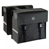 Willex Kolesarska torba tarpaulin 40 L mat črna