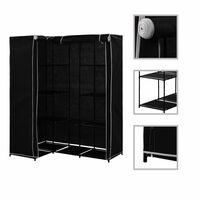 vidaXL Kotna garderobna omara 130x87x169 cm črna