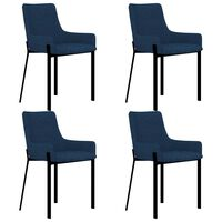 vidaXL Jedilni stoli 4 kosi modro blago