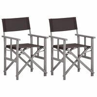 vidaXL Režiserski stoli 2 kosa trden akacijev les