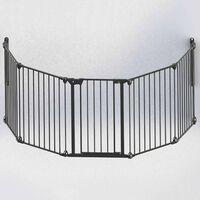 Noma 5-delna varnostna ograja Modular kovina črna 94238