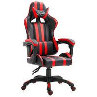vidaXL Gaming stol rdeče umetno usnje