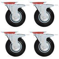 vidaXL Gibljiva kolesa 32 kosov 125 mm