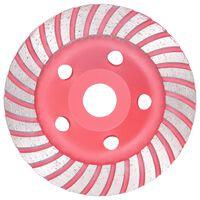 vidaXL Diamantna plošča za brušenje s turbom 125 mm