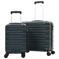 vidaXL Trdi potovalni kovčki 2 kosa zeleni ABS