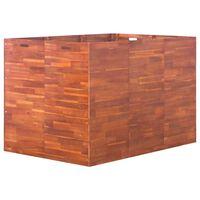 vidaXL Visoka greda iz akacijevega lesa 150x100x100 cm