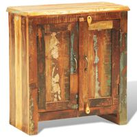 vidaXL Omarica iz predelanega trdnega lesa z 2 vrati starinska