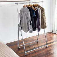 Storage solutions Stojalo za oblačila s 4 kolesi iz kovine