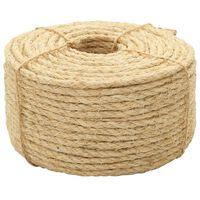 vidaXL Vrv iz 100 % sisala 10 mm 250 m
