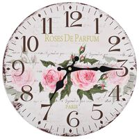 vidaXL Starinska stenska ura rože 30 cm