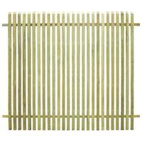 vidaXL Vrtna ograja impregnirana borovina 170x150 cm