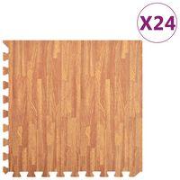 vidaXL Talne podloge 24 kosov vzorec lesa 8,64 ㎡ iz EVA pene