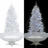 vidaXL Novoletna jelka s sneženjem in podstavkom bela 190 cm