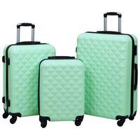 vidaXL Trdi potovalni kovčki 3 kosi mint zeleni ABS