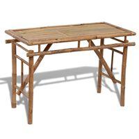 vidaXL Zložljiva vrtna miza 120x50x77 cm bambus