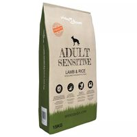 vidaXL Suha hrana za pse Adult Sensitive Lamb & Rice 15 kg