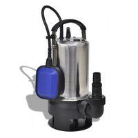 vidaXL Potopna Črpalka za Umazano Vodo 750 W 12500 L/h