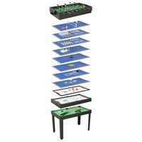 vidaXL Večnamenska igralna miza 15 v 1 121x61x82 cm črna