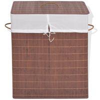 vidaXL Koš za perilo iz bambusa pravokoten rjav