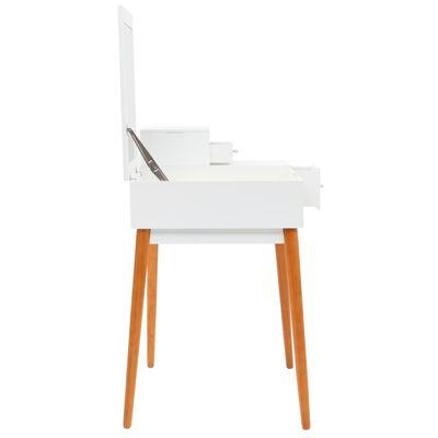 vidaXL Toaletna mizica z ogledalom MDF 60x50x86 cm