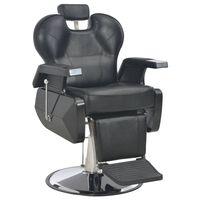 vidaXL Frizerski stol iz umetnega usnja 72x68x98 cm črn