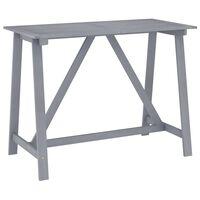 vidaXL Garden Bar Table Grey 140x70x104 cm Solid Acacia Wood