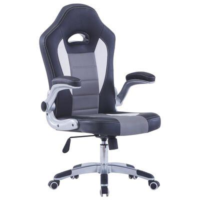 vidaXL Gaming stol iz črnega umetnega usnja