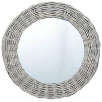 vidaXL Ogledalo 40 cm s pletenim okvirjem