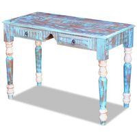 vidaXL Pisalna miza iz trdnega predelanega lesa