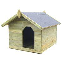 vidaXL Vrtna pasja uta z odpirajočo streho iz impregnirane borovine