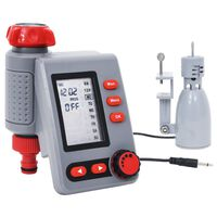 vidaXL Digitalni časovnik za zalivanje enojni s senzorjem za dež
