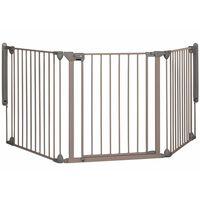 Safety 1st Varnostna vrata Modular 3 s 3 paneli sive barve 82-214 cm