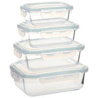 vidaXL Steklene posode za živila 4 kosi