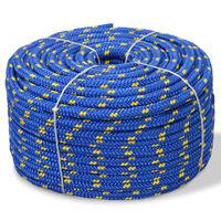 vidaXL Mornarska vrv polipropilen 6 mm 100 m modra