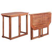 vidaXL Bistro miza 90x50x75 cm trden akacijev les