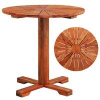 vidaXL Bistro miza 70x70 cm trden akacijev les